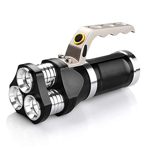 Zmsdt Projecteur LED Lampe De Poche IP65 Étanche Lampe De Poche 2400 Lumens CREE T6 Projecteur Pour Le Camping, La Randonnée, Le Cyclisme Et L'utilisation D'urgence