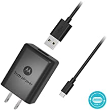 Motorola SPN5970A TurboPower 15+ QC3.0 Wall Charger with 3.3 Foot USB-C Cable for Moto X4, Z2 Force/Play, Z3, Z3 Play, Z4, G7, G7 Play, G7 Plus, G7 Power, G6, G6 Plus [Not for G6 Play] (Retail Box)
