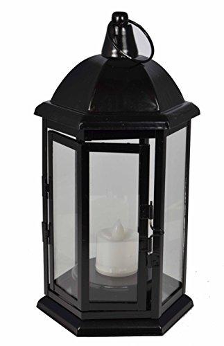 Laterne aus Stahlblech inkl. LED-Kerze