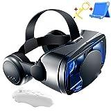 LPWCA VR Brille, 3D Brille mit Kopfhörer & Fernbedienung, Virtual Reality Box für 3D Filme & Videospiele, Kompatibel mit 5,0-7,0 Zoll Smartphones