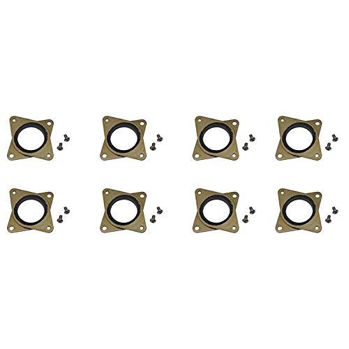Yaootely Verbesserte Nema 17 Stepper Stahl Und Gummi Schwingungs Daempfer Mit Schraube - CNC Fuer 3D Drucker Creality Cr-10, Cr-10S Maschine CNC 3D Drucker (8 Pack)