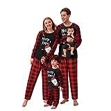 riou Pijamas Dos Piezas Familiares de Navidad El nuevo Suave y Cómodo Mamá Papá Niños Bebé Chándal Homewear Pijamas Navidenos Familiares