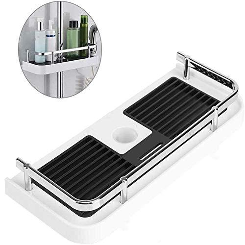 Shelf Badkamer Met Douche, Douche Plank Ondersteuning Zonder Boren Glijstang - Ondersteuning Badkamer Houder Organisator Shampoo