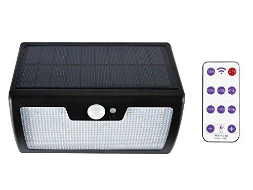 SUNNY リモコン付きソーラーライト 人感センサーライト 太陽光発電 LED 40個 屋外照明 防犯 防水IP65 点灯モード6種 大容量電池 待機時間長 高性能ソーラーパネル搭載