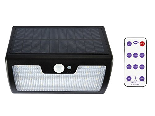 MIFO ソーラーセンサーライトリモコン付き 人感センサー 太陽光発電 LED 40個 屋外照明 防犯 防水IP65 点灯モード6種 待機時間長 高性能ソーラーパネル搭載