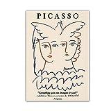 Pablo Picasso Pintura Abstracta De La Cara De La Paloma De La Paz ImpresióN Picasso Lienzos Poster Impresiones Salon De Estar Arte De La Pared Decoracion Cuadros Obra De Arte 40x60cm Sin Marco