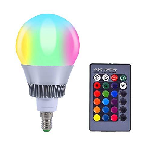 LED Licht Farbwechsel Lampe RGB 10W E14 16 Farbe LED Leuchtmittel mit Fernbedienung 85-265V(E14)