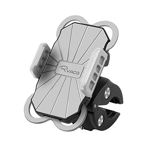 Ryaco Handyhalterung Fahrrad, 360°verstellbare Fahrrad Handyhalterung, Universal Motorrad Handyhalterung für iPhone,Galaxy,Huawei & Allen Handy, Handyhalter für Rennrad Mountainbike Kinderwagen