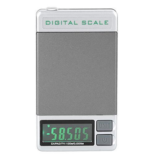 Gewichtsmesser mit Anzeige, Nadeldruckmesser, Genauigkeit 0,01 g, mit großem Display, geringem Stromverbrauch, Plattenspieler-Gewichtsmesser