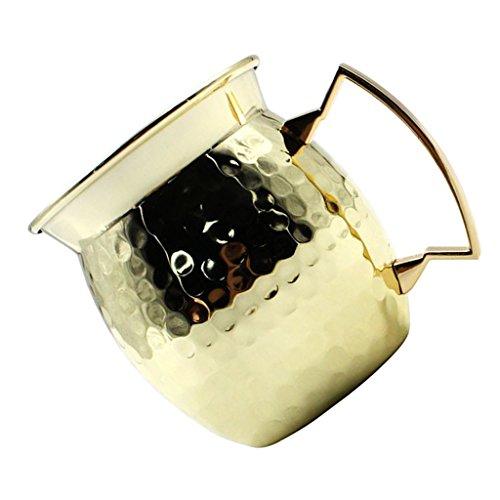 Sharplace 1 Pièce Mug en Cuivre pour Cocktail Idéale pour Boisson Fraîche Bière Mojito Margarita Cadeau pour Noël Fête - d'or