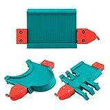 Comie - Medidor de contorno multifunción, regla de medida de cantos, duplicador de contorno, medidor de perfil, baldosas, laminado, herramienta de forma, madera, función de bloqueo, 125 mm
