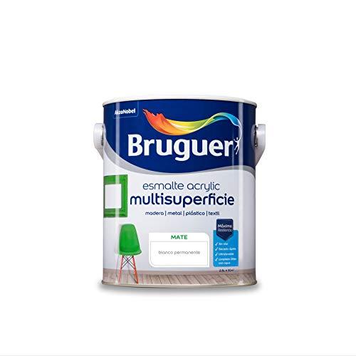 Bruguer Acrylic Multisuperficie Esmalte al agua Mate Blanco Permanente 2,5L