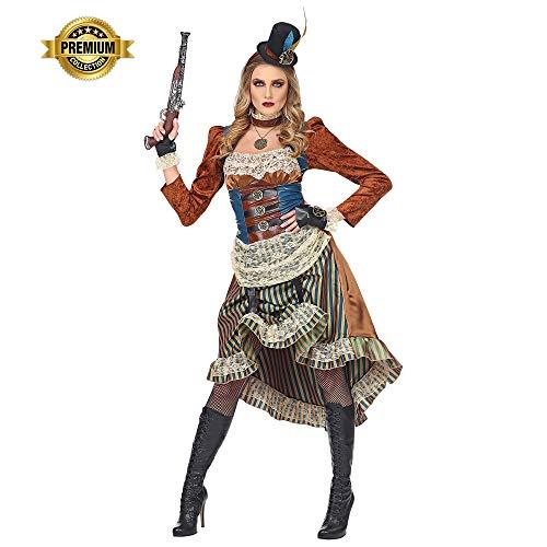 widmann srl-grp08071vd disfraz Steampunk de mujer para Adultos ...