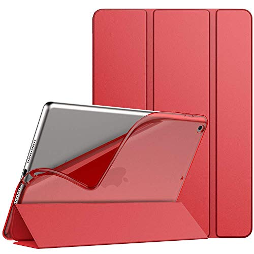 GUPENG Case for New iPad 8th Generation 2020 / iPad 7th Generation 10.2' 2019, Slim TPU Translucent Frosted Back Protective Cover Shell with Auto Wake/Sleep, Cover Fit iPad 10.2-inch - Red