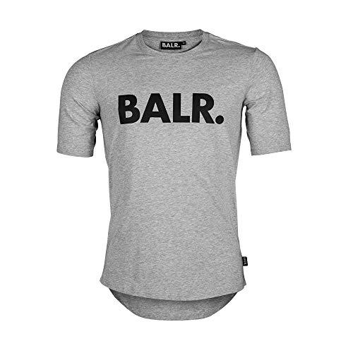 Bal. Klassiek mannen Brand T-shirt met atletische pasvorm van hoogwaardig katoen - zwart - wit - grijs - marineblauw