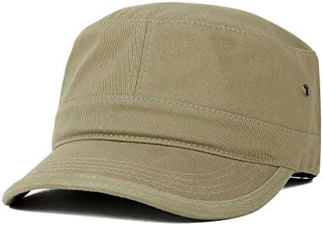 Trendy Apparel Shop Oversize XXL Flat Top Style Army Cap Khaki 2XL product image