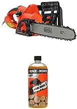 Black + Decker CS2040-GB 40 cm Chainsaw Corded, 2000 W, with 1L Chain Saw Oil