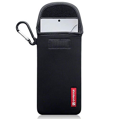 shocksock, Kompatibel mit Samsung Galaxy Note 10 Plus Neopren Tasche mit Carabiner Hülle Samsung Galaxy Note 10+ - Schwarz
