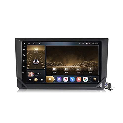 Buladala Android 10 MP5 Player GPS Navegación para Seat Ibiza 2017-2020, Soporte WiFi 5G DSP/FM RDS Radio de Coche Estéreo/BT Hands-Free Calls/Control del Volante/Carplay Android Auto,M600