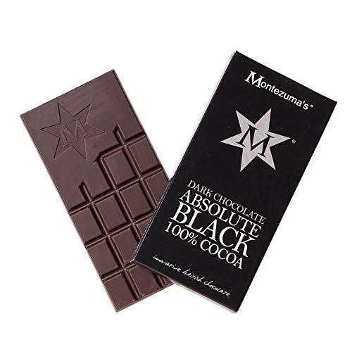 Montezumas Chocolat Absolute Noir 100% Cacao 100g (Boîte de 12)