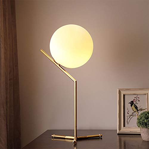 ZUEN Nachttisch-Lampe, Led Bedroom Table Light Copper Magic Bean Table Lamp Simple Romantic Living Room Children es Room Office (inkl. E27led Bulb)