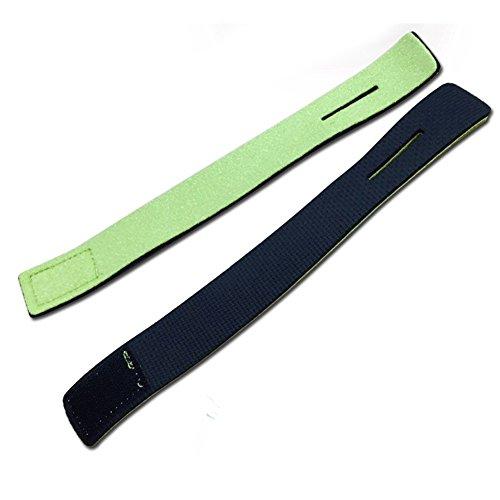 EMVANV 2Rod Ärmel Angel Kabelbinder Geschenkpapier Bandage Feste Magic Stick Band Halter Angeln Tackle Ablage, grün