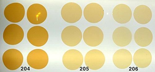Warmlicht Filterset CTO für LED Lampen GU10, 3 Farben je 6 STK. Kreiszuschnitt 5cm