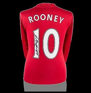 signed wayne rooney manchester united shirt