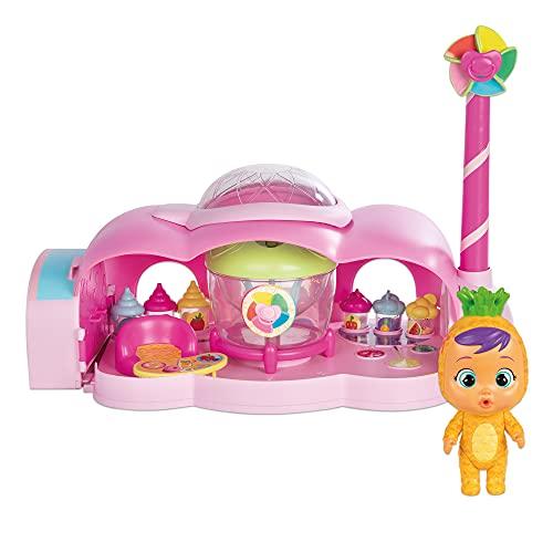 BEBÉS LLORONES LÁGRIMAS MÁGICAS Tutti Frutti, La Fábrica de Pia – Playset con muñeca Exclusiva Pia y 20 Accesorios para Crear Mini Batidos, zumos y gelatinas; Juguete a Partir de 3 años, 80171