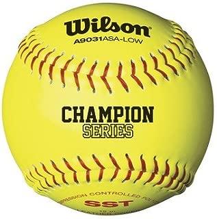 Wilson A9331ASA Series Softball (12-Pack), 11-Inch, Optic Yellow