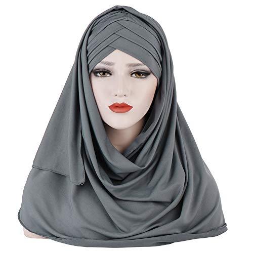 Amorar Hijab Kopftuch für Damen Muslimische Frauen Schal Kopfbedeckung Hidschab Islamische Gesichtsschleier Turban Hals Chemo Kappe Bandana Haartuch Beanie Mützen
