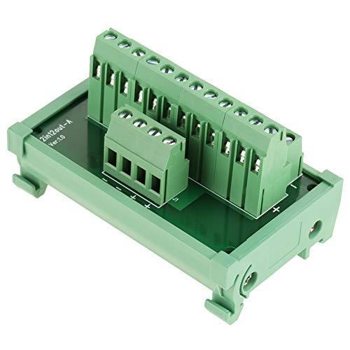 12 Positionen Stromverteilung, DIN-Schienenmontage, Schnittstellenmodul, für 35 mm Schienen