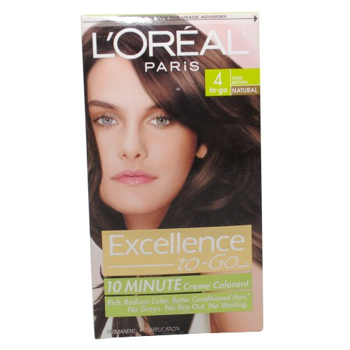 Price comparison product image L'Oreal Paris Excellence To-Go 10-Minute Crème Coloring,  Dark Brown 4