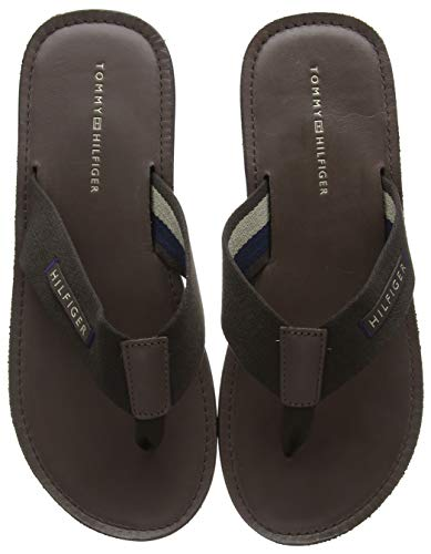 Tommy Hilfiger heren Elevated Leather Beach Sandal Teenslippers