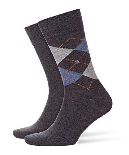 Burlington Herren Socken, Everyday Mix M SO, 2 Paar, Grau (Anthracite Melange 3081), 40-46