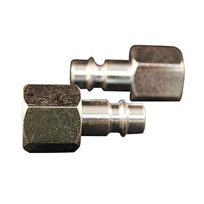 "Milton 3/8"" FNPT V Style High Flow Steel Plug - Pack of 2"