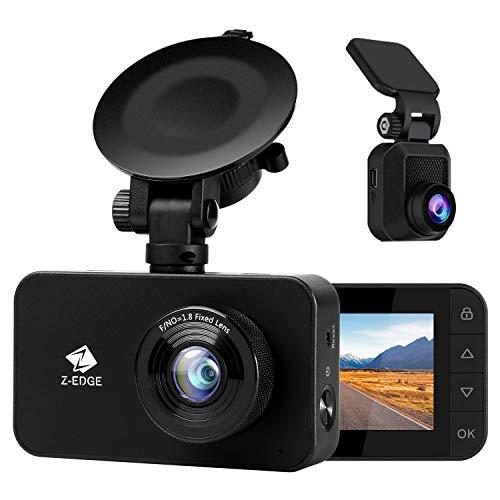 Z-Edge WiFi Dashcam Dual 1080P Front und Heckkamera FHD Autokamera, Einzelne Frontkamera 1296P, 2,7 Zoll LCD Bildschirm, Loop-Aufnahme, WDR, G-Sensor, Parkmodus