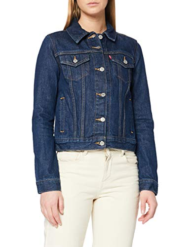 Levi's Damen Original Trucker' Jeansjacke, Blau (Clean Dark Authentic 0036), S