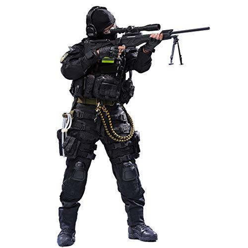 Soldato delle forze speciali di combattimento: 30 cm (circa 12 pollici), peso del prodotto: 1000 g. Materiale: ABS + PVC + panno, scegli tessuti di alta qualità per fatti a mano. Alta giocabilità: dotato di accessori ricchi aumenta notevolmente la co...