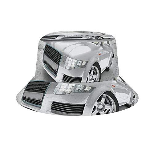 SedExd – Sombrero de Sol para Hombres/Mujeres, al Aire Libre, Plegable, para Viajes, para Safari, Pesca, Senderismo, Playa, Golf, Auto, Plateado, Audi TT