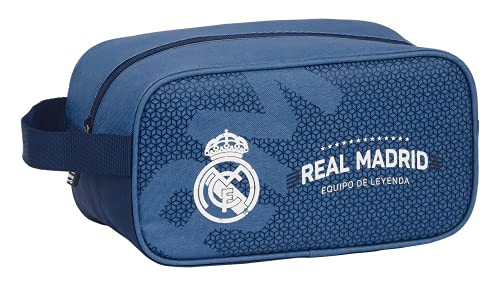 safta 812124682 Leyenda Bolso Zapatillas Real Madrid CF, Azul Marino