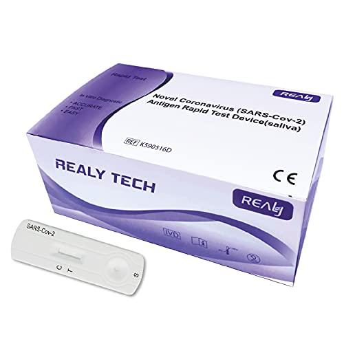 Realy Tech Antigen Schnelltest, Speicheltest, Spucktest, Selbsttest, 20er Box