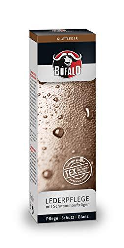 Bufalo Schuhcreme Lederpflege mit Schwamm 75 ml Deckweiß