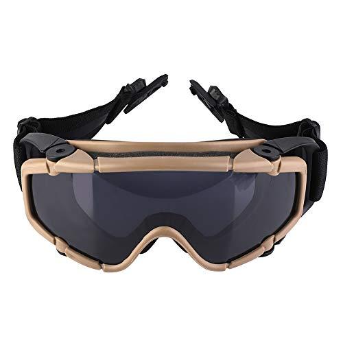 Gafas de Seguridad Gafas Protectoras Gafas Tácticas Gafas De Casco Gafas Balísticas Paintball Militares Gafas De Polvo A Prueba De Polvo Montarizando Montar Esquiamiento Gafas Protectoras Indu