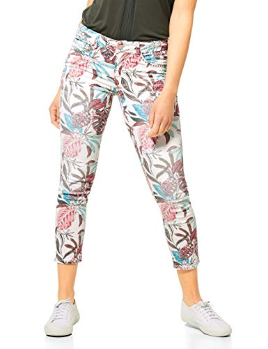 Street One Damen 373176 Jeans, Flower Print Washed, W30/L28