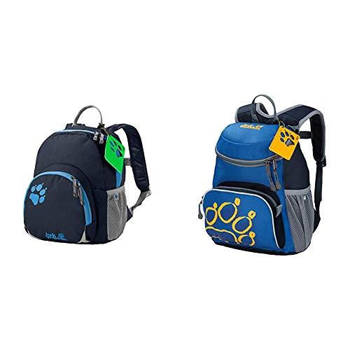 Jack Wolfskin Buttercup Unisex - Kinder Rucksack, Night Blue, 28.5 x 23.5 x 7 cm, 4.50 Liter & Little Joe Kinderrucksack, kleiner Tagesrucksack für den Kindergarten, Wanderrucksack