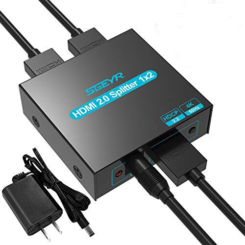 Learn More About SGEYR 4K HDMI 2.0 Splitter HDMI Splitter 1 in 2 Out HDMI Distribution Support 4k@60...