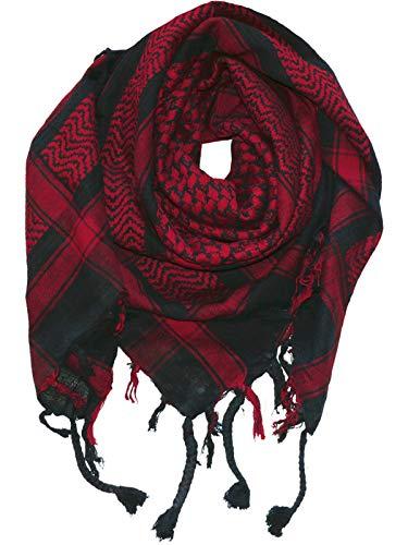 Harrys-Collection PLO Tuch in 20 Farben 100% Baumwolle dick, Schwarz mit Rot, Einheitsgröße