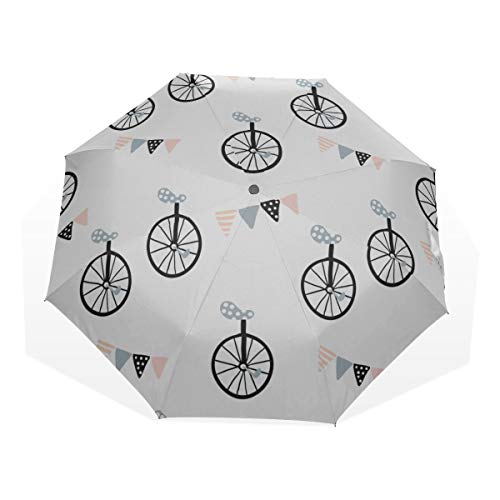Best Umbrella Compact Bicycle Wheel Cycling Game Sport 3 Fold Art Umbrellas(outside Printing) Womans Travel Umbrella Compact Umbrella Adult Cool Travel Umbrella