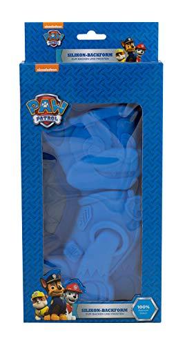POS 30192 - Silikon Backform Paw Patrol Chase, ca. 25 x 18 x 5 cm groß, 100% lebensmittelechtes Platin-Silikon, hitze- und kältebeständig von 230° bis -60°C, spülmaschinengeeignet
